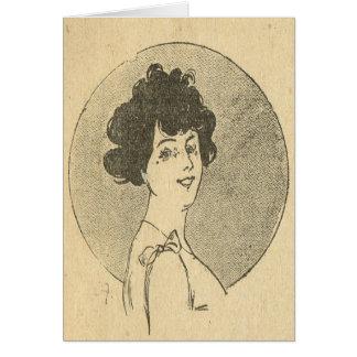 ヴィンテージのフランス語、美女の新紀元、若い女性 カード