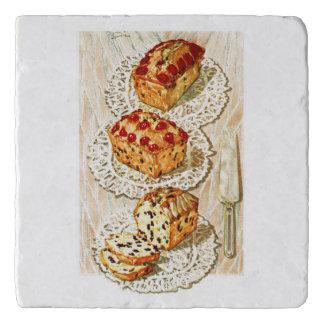 ヴィンテージのフルーツのケーキの絵 トリベット