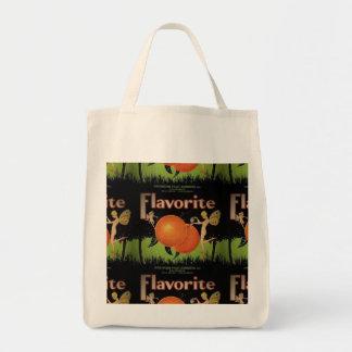 ヴィンテージのフルーツのラベルを特色にする食料雑貨のトート トートバッグ