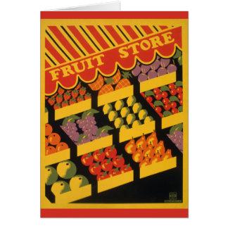 ヴィンテージのフルーツの店 カード