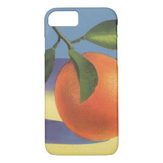 ヴィンテージのフルーツの木枠のラベルの芸術、Jucifulのオレンジ iPhone 8/7ケース