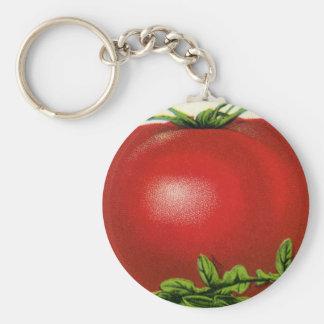 ヴィンテージのフルーツの木枠のラベル、アルカディアの美しいのトマト キーホルダー