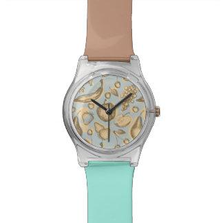 ヴィンテージのフルーツパターン 腕時計