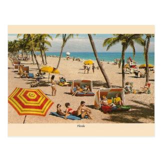 ヴィンテージのフロリダのビーチ旅行郵便はがき ポストカード