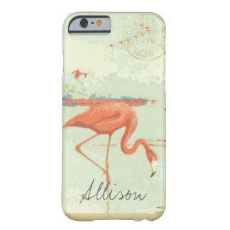 ヴィンテージのフロリダのフラミンゴの郵便はがきの電話箱 BARELY THERE iPhone 6 ケース