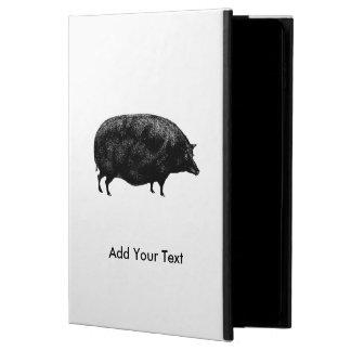 ヴィンテージのブタの旧式なプリント POWIS iPad AIR 2 ケース