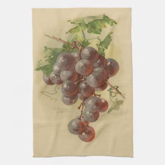ヴィンテージのブドウ キッチンタオル