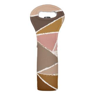 ヴィンテージのブラウンの三角形パターン ワイントート