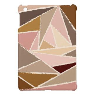 ヴィンテージのブラウンの三角形パターン iPad MINI カバー