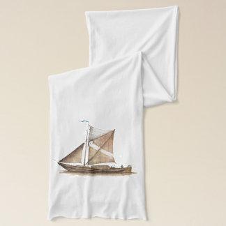 ヴィンテージのブラウンの船 スカーフ