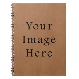 ヴィンテージのブラウンの革硫酸紙の背景 ノートブック