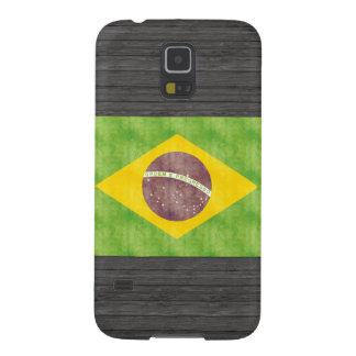 ヴィンテージのブラジルのレトロの旗 GALAXY S5 ケース