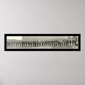 ヴィンテージのブラスバンドオハイオ州の写真1917年 ポスター