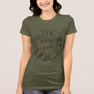 ヴィンテージのブルックリンのnycのニューヨークシティのトレンディーの郵便料金 tシャツ