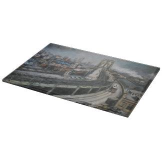 ヴィンテージのブルックリン橋のニューヨークシティの絵画 カッティングボード