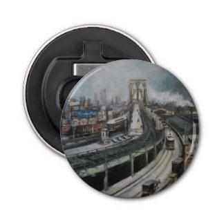ヴィンテージのブルックリン橋のニューヨークシティの都市景観 栓抜き