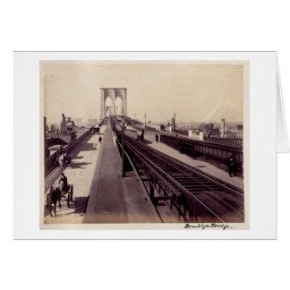 ヴィンテージのブルックリン橋 カード