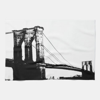 ヴィンテージのブルックリン橋 キッチンタオル