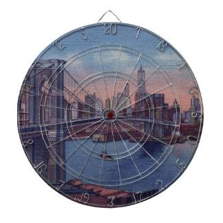 ヴィンテージのブルックリン橋 ダーツボード