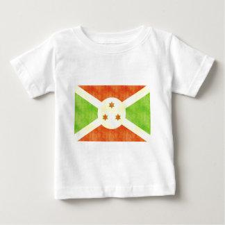ヴィンテージのブルンディのレトロの旗 ベビーTシャツ