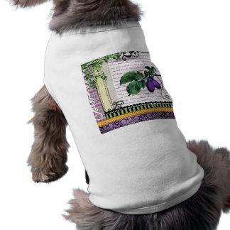 ヴィンテージのプラムフルーツのコラージュ ペット服