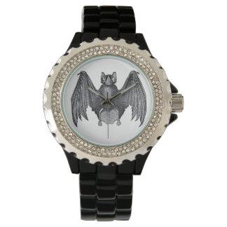 ヴィンテージのプリントのこうもりのゴシック様式エレガントな腕時計 腕時計