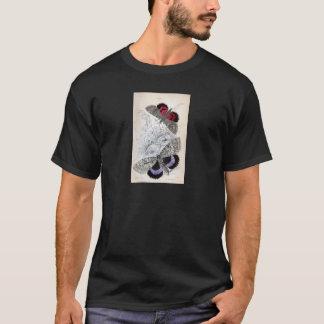 ヴィンテージのプリント-チョウ目-ガ及び蝶 Tシャツ