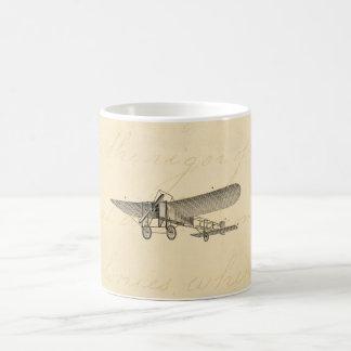 ヴィンテージのプロペラの飛行機のレトロの古い支柱の飛行機 コーヒーマグカップ