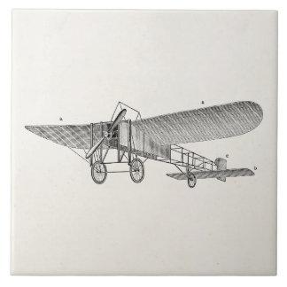 ヴィンテージのプロペラの飛行機のレトロの古い支柱の飛行機 タイル