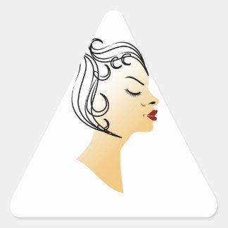 ヴィンテージのヘアスタイル 三角形シール