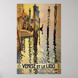 ヴィンテージのベニス旅行ポスター ポスター