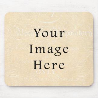 ヴィンテージのベージュクリーム色の原稿の文字の硫酸紙 マウスパッド