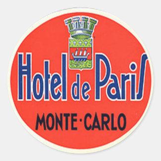 ヴィンテージのホテル及び旅行ステッカー ラウンドシール
