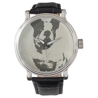 ヴィンテージのボストンテリア犬の腕時計 腕時計