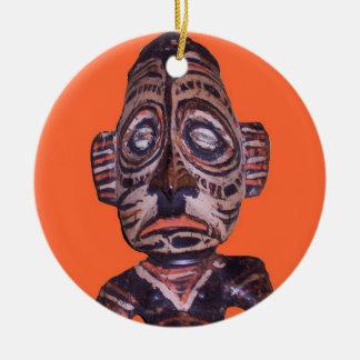 ヴィンテージのポリネシア人のマスク セラミックオーナメント