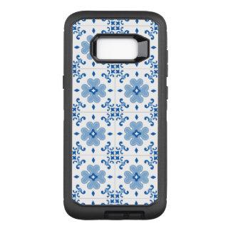ヴィンテージのポルトガル人のAzulejoのタイルパターン オッターボックスディフェンダーSamsung Galaxy S8+ ケース