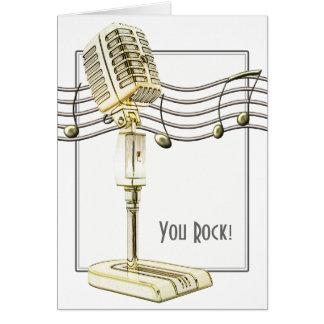 ヴィンテージのマイクロフォンの挨拶状 カード