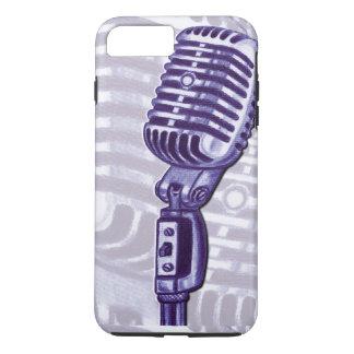 ヴィンテージのマイクロフォンの紫色のiPhone 7のプラスの場合 iPhone 8 Plus/7 Plusケース