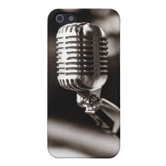 ヴィンテージのマイクロフォン iPhone 5 ケース