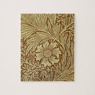 ヴィンテージのマリーゴールドのウィリアム・モリスの壁紙のデザイン ジグソーパズル