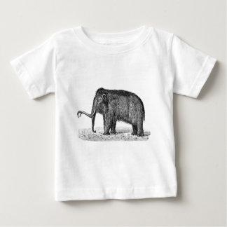 ヴィンテージのマンモスのイラストレーションのWoolyマンモス ベビーTシャツ