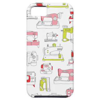 ヴィンテージのミシンのレトロのdiy女の子パターン iPhone SE/5/5s ケース