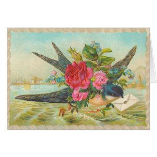 ヴィンテージのミソサザイのバースデー・カード カード
