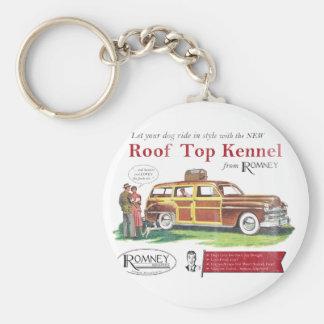 ヴィンテージのミット・ロムニー犬のレトロの広告 キーホルダー