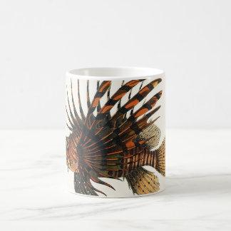 ヴィンテージのミノカサゴの魚、海洋の海の生命動物 コーヒーマグカップ