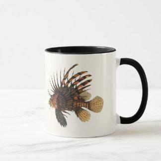 ヴィンテージのミノカサゴの魚、海洋の海の生命動物 マグカップ