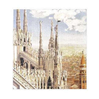 ヴィンテージのミラノ旅行 ノートパッド