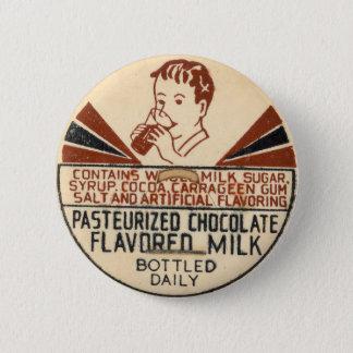 ヴィンテージのミルクのビンの王冠ボタン 缶バッジ