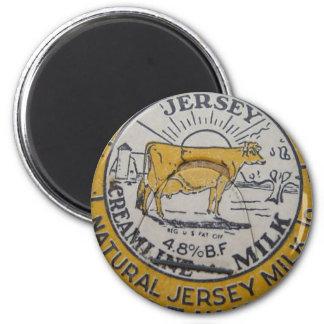 ヴィンテージのミルクのビンの王冠牛ジャージーの酪農場 マグネット