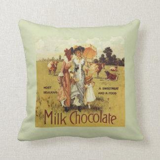 ヴィンテージのミルクチョコレート牛パーティー クッション